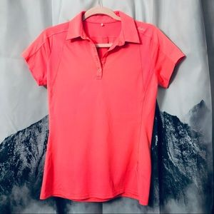 Adidas Adizero Neon Pink Golf Polo Sz Small